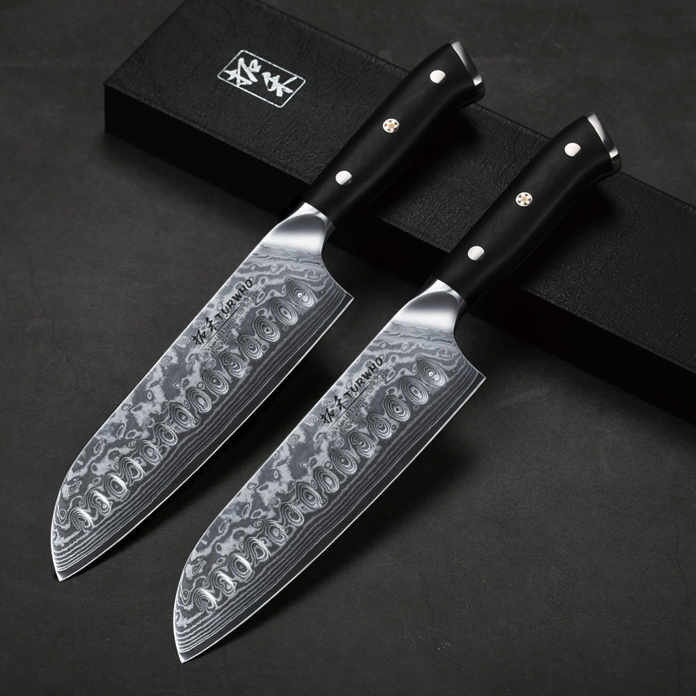 Santoku Knife Damascus Steel
