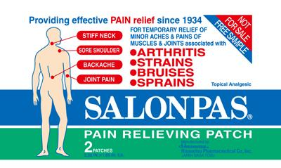 SALONPAS REVIEWS (PAIN RELIEVING PATCHES, SPRAYS & FOAM)