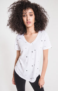 Z Supply Star Print V Neck Tee