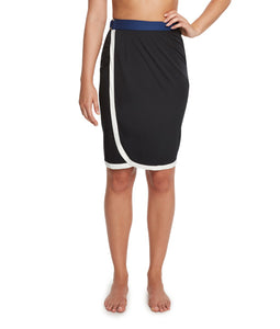 Thrive Société Blocked Out Midi Skirt
