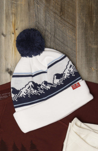 8-Bit Mountain Knit Beanie