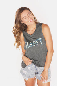 House of Tens Happy Muscle Tank
