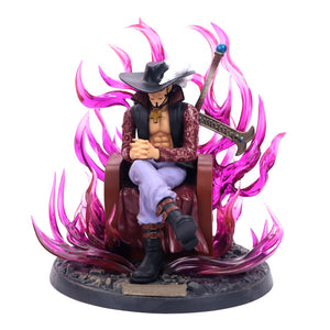 Red Flame-One Piece Mihawk Red Flame Throne Action Figure ( Limited Edition) (1:1 Original Copy) (Free Gift Box)