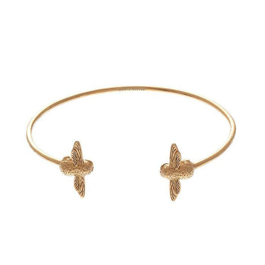 3D Bee Open End Bangle Gold-Cocomi Malaysia