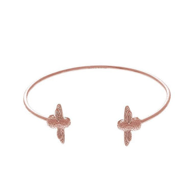 3D Bee Open End Bangle Rose Gold-Cocomi Malaysia