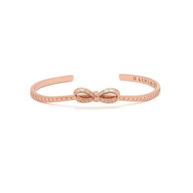 Olivia Burton Bow Rose Gold Women's Bangle (OBJVBB26)-Cocomi Malaysia