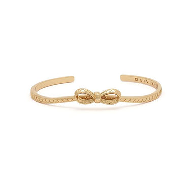 Olivia Burton Bow Gold Women's Bangle (OBJVBB27)-Cocomi Malaysia