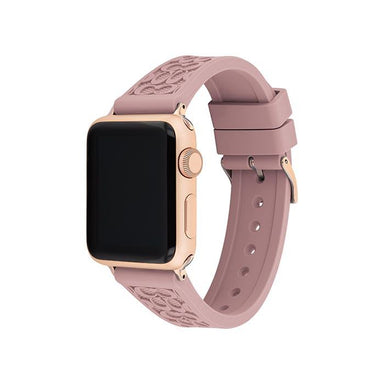 Coach Apple Watch® Strap Pink Rubber 38mm Women's (14700040)-Cocomi Malaysia