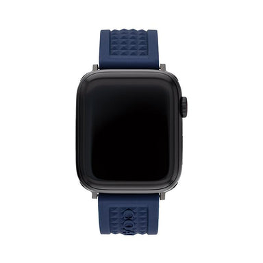 Coach Apple Watch® Strap Blue Canvas 42mm Men's (14700045)-Cocomi Malaysia