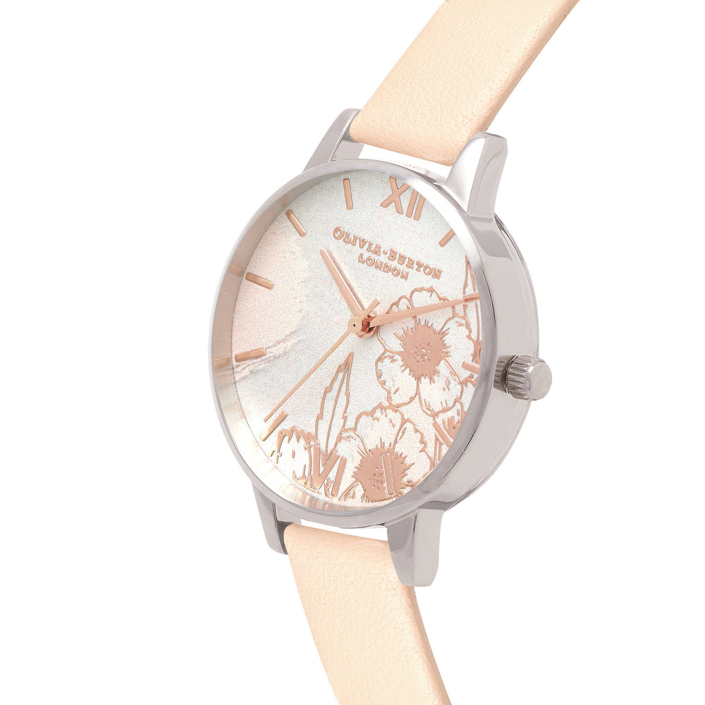 Abstract Florals Nude Peach 30 mm Women's Watch-Cocomi Malaysia