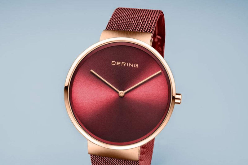 Bering Classic Red 39 mm Men's Watch (14539-363)-Cocomi Malaysia