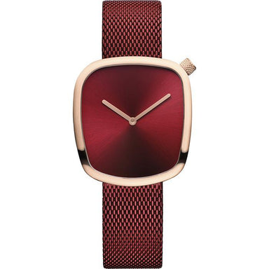 Bering Pebble Red Women's Watch (18034-363)-Cocomi Malaysia