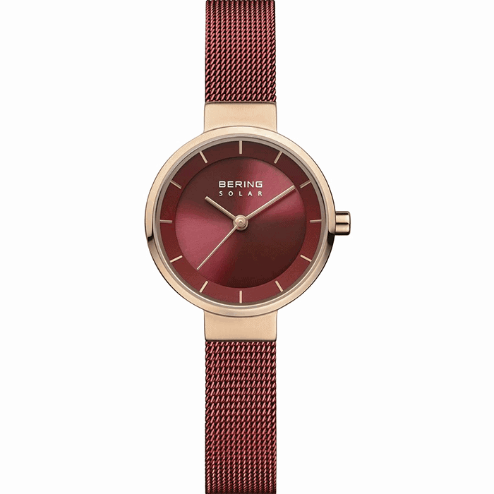 Bering SOLAR Red 27mm Women's Watch (14627-363)-Cocomi Malaysia
