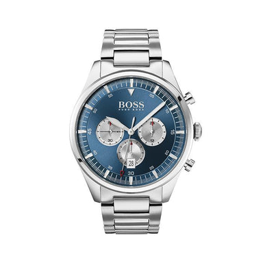 BOSS Pioneer Silver White & Blue Men's Watch (1513713)-Cocomi Malaysia