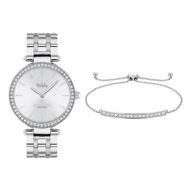 Coach Gift Set Silver White Women's Watch (14000070)-Cocomi Malaysia
