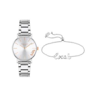 Coach Perry Silver White Women's Watch (14000063)-Cocomi Malaysia