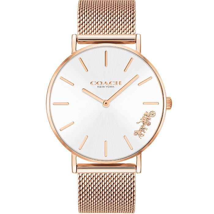 Coach Perry Silver White Women's Watch (14503126)-Cocomi Malaysia