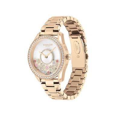 Coach Preston Silver White Women's Watch (14503776)-Watches-Cocomi Malaysia