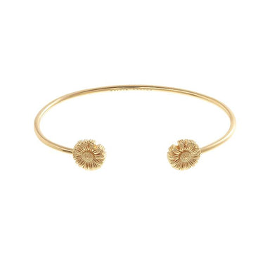 Daisy Open Ended Bangle Gold-Cocomi Malaysia
