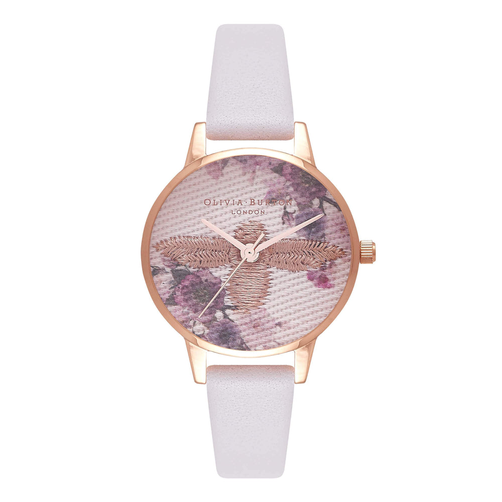 Embroidered Dial Rose-Gold 30 mm Women's Watch Ob16Em06-Cocomi Malaysia
