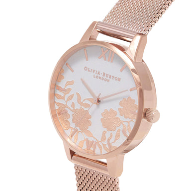 Lace Detail Floral 38 mm Women's Watch-Cocomi Malaysia