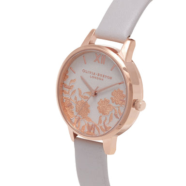 Lace Detail Rose-Gold 30 mm Women's Watch-Cocomi Malaysia