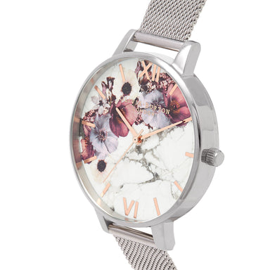 Marble Florals White/Floral 38 mm Women's Watch-Cocomi Malaysia