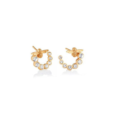 Olivia Burton Bejewelled Bee Gold Earrings (OBJAME161)-Cocomi Malaysia
