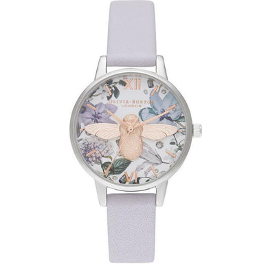 Olivia Burton Bejewelled Florals Parma Violet Leather Women's Watch (Ob16Bf22)-Cocomi Malaysia