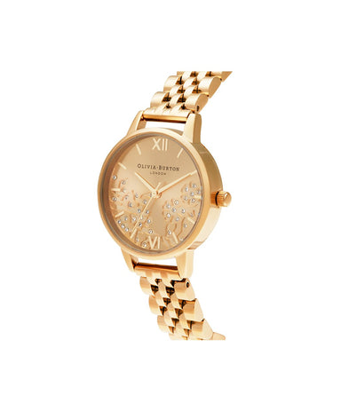 Olivia Burton Bejewelled Lace GOLD Women's Watch (OB16MV105)-Cocomi Malaysia