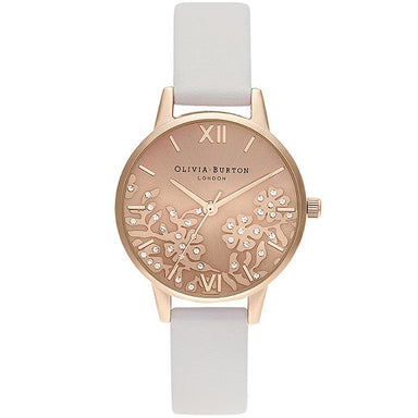 Olivia Burton Bejewlled Lace Blush Women's Watch (Ob16Mv102)-Cocomi Malaysia