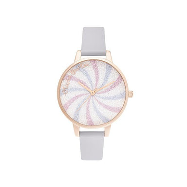 Olivia Burton Candy Shop Parma Violet Leather Women's Watch (OB16CD03)-Cocomi Malaysia