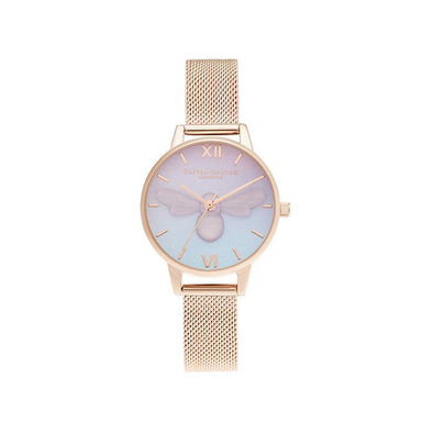 Olivia Burton Candy Shop Purple To Blue Gradient & 3D Pink Plastic Bee Women's Watch (OB16CD09)-Cocomi Malaysia