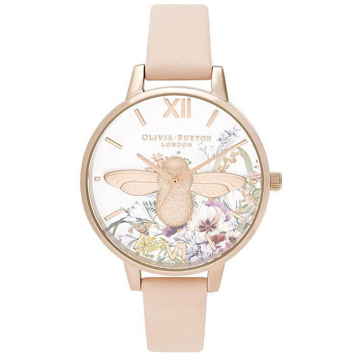 Olivia Burton Enchanted Garden Nude Peach Women's Watch (Ob16Eg151)-Cocomi Malaysia