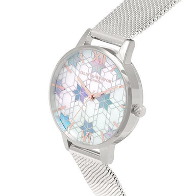 Olivia Burton Ice Queen White & Color Mother Of Pearl Women's Watch (OB16IQ01)-Cocomi Malaysia