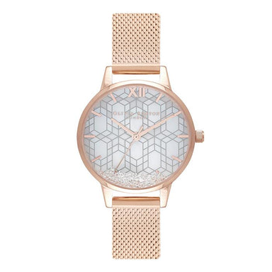 Olivia Burton Ice Queen White Mother Of Pearl Women's Watch (OB16IQ03)-Cocomi Malaysia