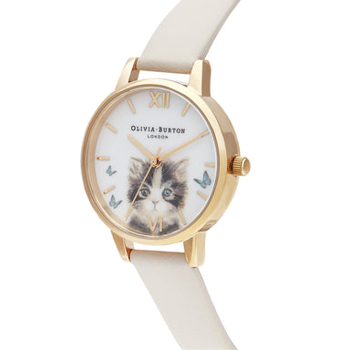 Olivia Burton Illustrated Animals Nude Women's Watch (Ob16Wl75)-Cocomi Malaysia