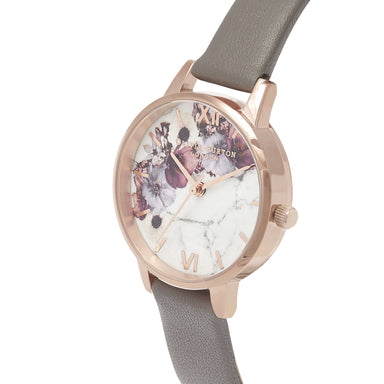 Olivia Burton Marble Florals London Grey Women's Watch (Ob16Mf08)-Cocomi Malaysia