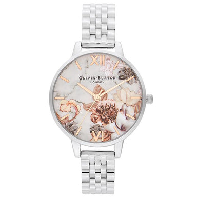Olivia Burton Marble Florals ROSE GOLD AND SILVER Women's Watch (OB16CS31)-Cocomi Malaysia