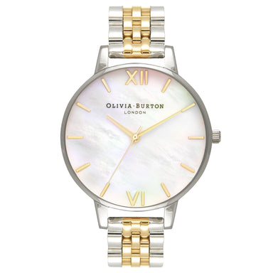 Olivia Burton Mother Of Pearl Bracelet Gold And Silver Women's Watch (OB16MOP05)-Cocomi Malaysia