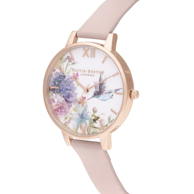 Olivia Burton Painterly Prints Dusty Pink Women's Watch (Ob16Pp44)-Cocomi Malaysia