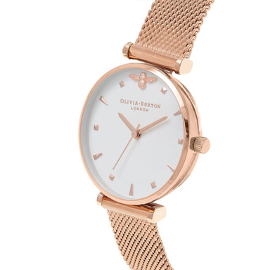 Olivia Burton Queen Bee Rose-Gold Women's Watch (OB16AM105)-Cocomi Malaysia