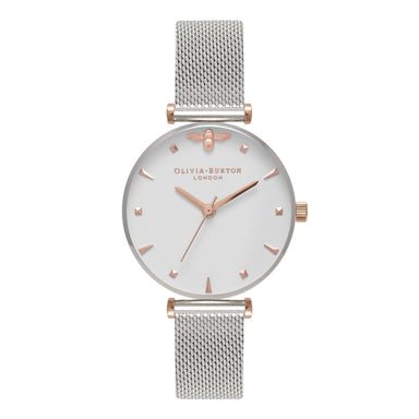 Olivia Burton Queen Bee SILVER Women's Watch (OB16AM140)-Cocomi Malaysia