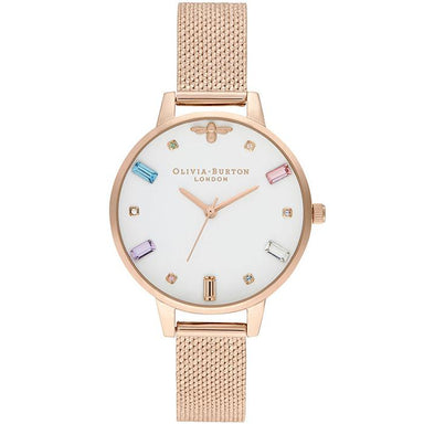 Olivia Burton Rainbow Bee Pale Rose Gold Women's Watch (Ob16Rb15)-Cocomi Malaysia