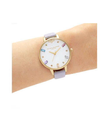 Olivia Burton Rainbow Bee PARMA VIOLET LEATHER Women's Watch (OB16RB11)-Cocomi Malaysia