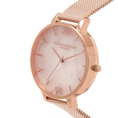 Olivia Burton Semi Precious Rose Gold 38mm Women's Watch-Cocomi Malaysia