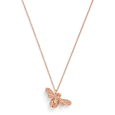 Olivia Burton Sparkle Bee Rose Gold Women's Necklace (OBJAMN59)-Cocomi Malaysia