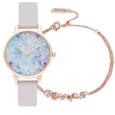 Olivia Burton Under The Sea Pearl Lilac Women's Watch (OBGSET142)-Cocomi Malaysia