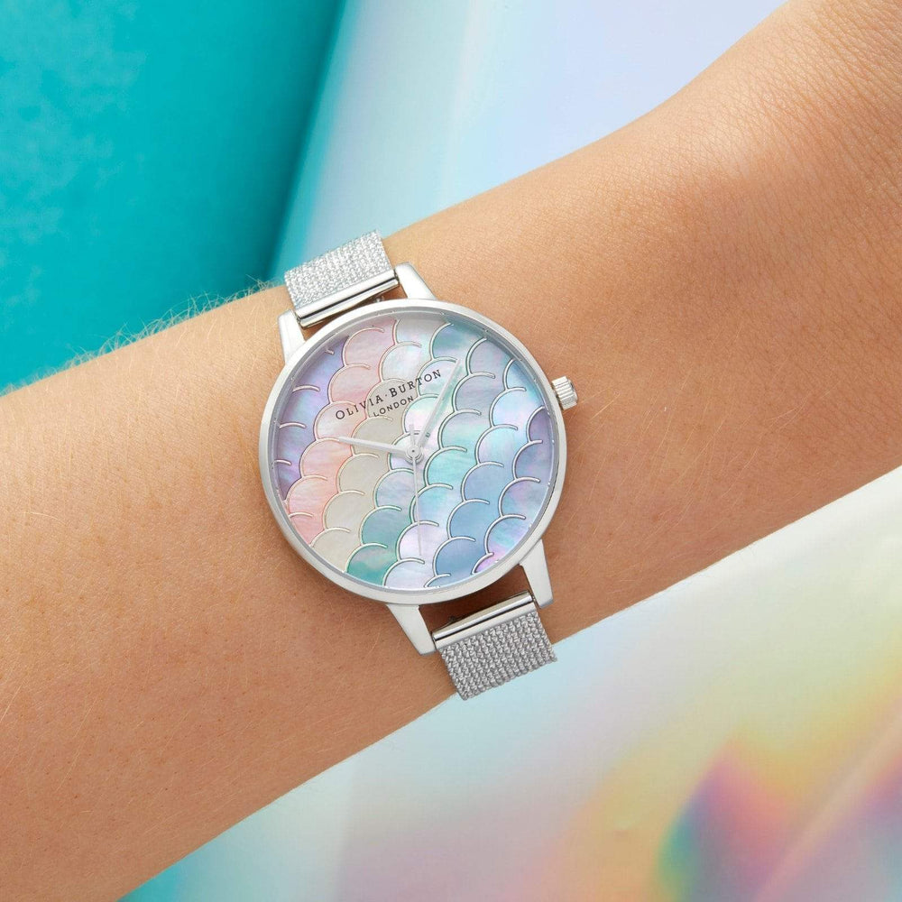 Olivia Burton Under The Sea Silver Women's Watch (OB16US46)-Cocomi Malaysia