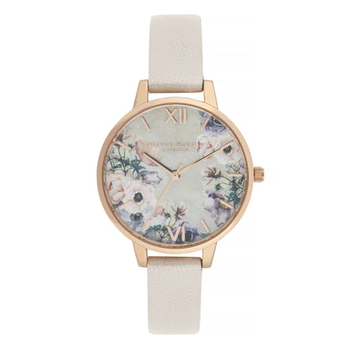 Olivia Burton Watercolour Florals Pearl Pink Women's Watch (Ob16Pp53)-Cocomi Malaysia